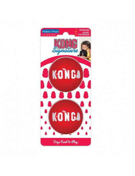 Kong Signature Balls Medium 2 Pack