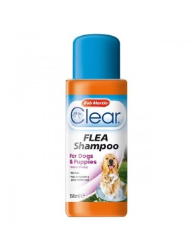 Bob Martin Clear Flea Shampoo For Dogs & Puppies 150ml