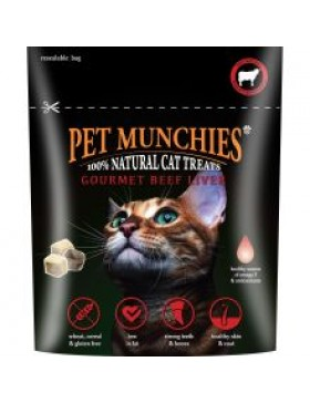 Pet Munchies Gourmet Beef Liver for Cats, 10g