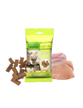 Real Meaty Cat Treats With Chicken & Turkey 60g