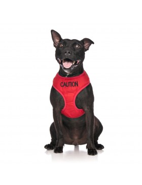 Caution Dog Vest Harness