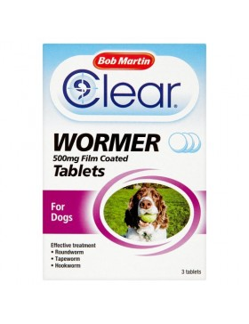 Bob Martin Clear All in One Wormer Tablets - Large Dog