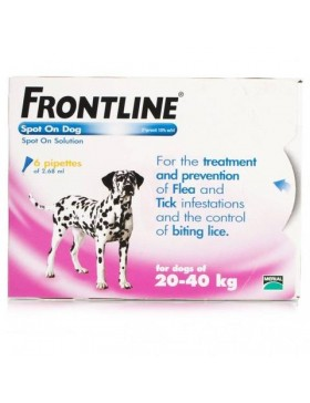 FRONTLINE Spot On Dog Large - 6 pipettes