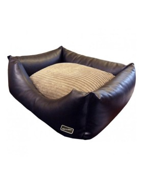 Hem & Boo faux leather bed brown small