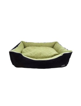 Hem & Boo quilted rectangle beds apple/black