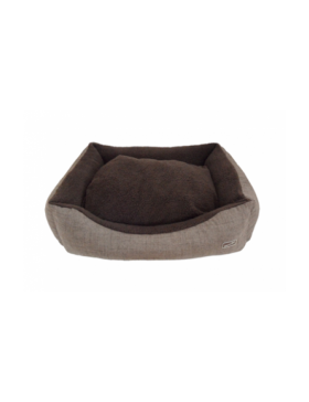 Hem & Boo padded rectangle cloud fleece beds brown