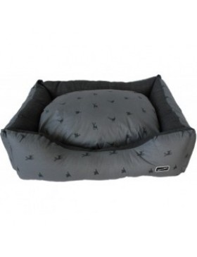 Hem & Boo country print rectangle bed grey