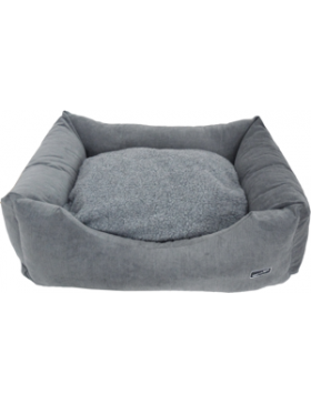 Hem & Boo padded rectangle cloud fleece beds grey