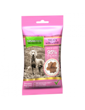 Natures Menu Real Meaty Dog Treats with Lamb and Chicken, 60g