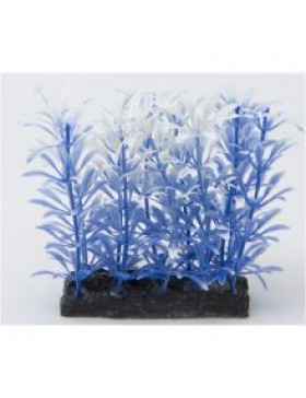 Fish 'R' Fun Aquarium Plant Blue & Base, 4""