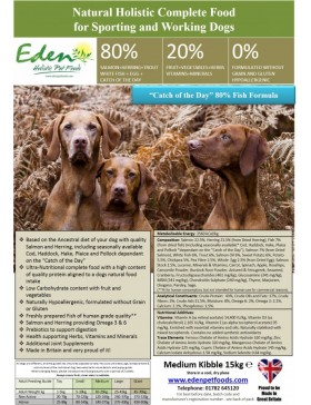 Eden Fish Cuisine Working and Sporting Dog Food