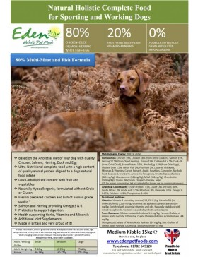 "EdenCountry Cuisine"" Game with Lamb Working and Sporting Dog"