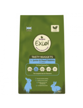 Burgess Excel Junior and Dwarf Rabbit Nuggets with Mint,