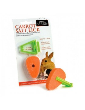 Small 'N' Furry Carrot Salt Lick With Holder