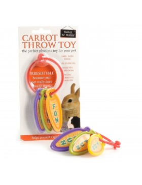 Small 'N' Furry Carrot Throw Toy
