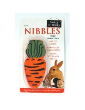 Small 'N' Furry Carrot Wood Chew