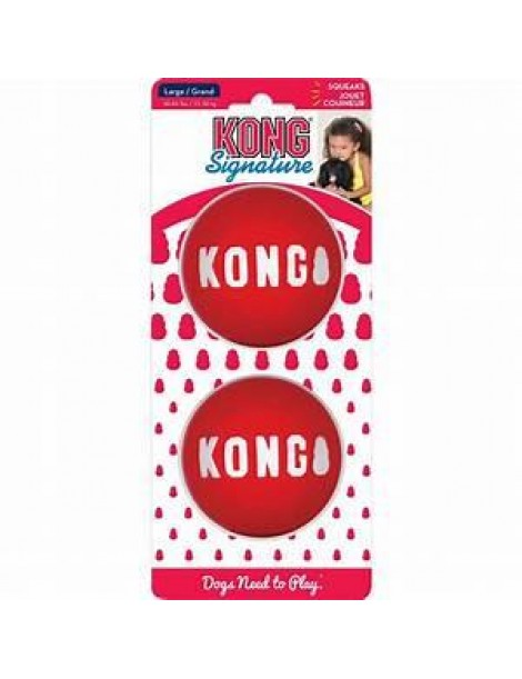 Kong Signature Balls 2 Pack Large