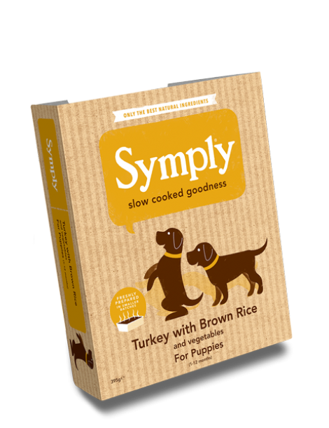 Symply Tray Turkey with Brown Rice Puppy 3-12 Month